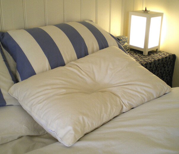 Kapok pillows, malleable and supportive